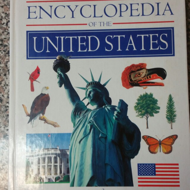 Young Peoples Encyclopedia of the United States Hardcover Book