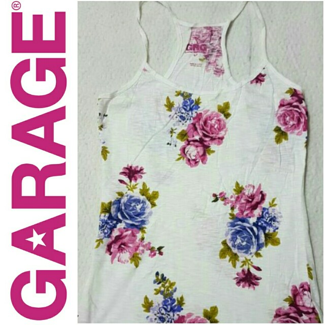 -Yunik- Authentic GARAGE Floral Print Halter Top