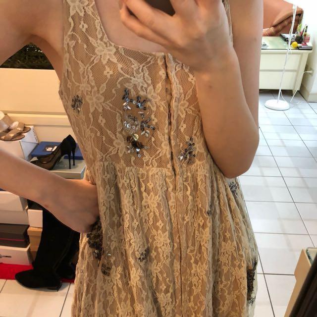 Zara奶茶色洋裝 原價2190