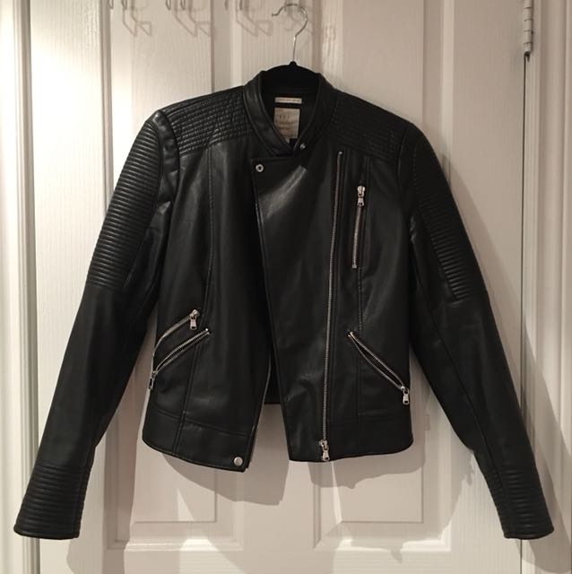 Zara leather jacket size small