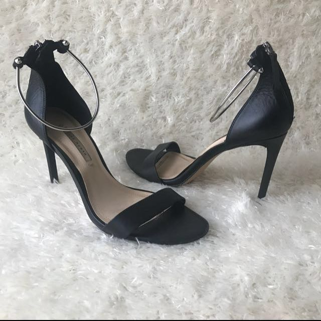 On Strap Carousell Silver With Heels Zara Minimalist Ankle CdBQWxroeE