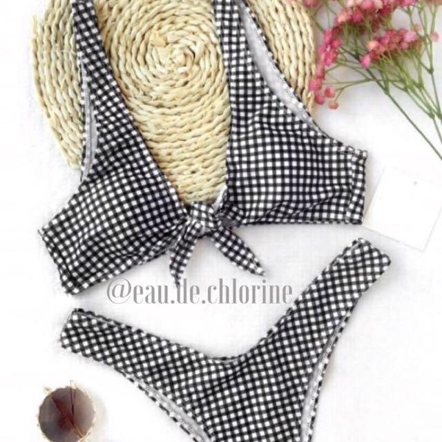 Zara Plaid Two Piece Swimsuit Bikini