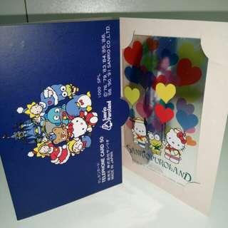 Sanrio puroland 日本電話卡 pc狗 keroppi kitty