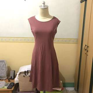 Uniqlo Ponte Pink Dress