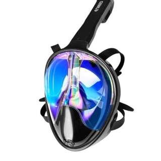Enkeoo Full Mask Snorkeling w/ go pro wrist holder and water proof cellphone holder