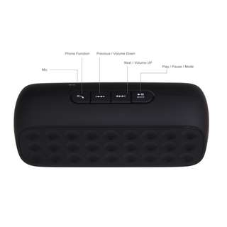 Bluetooth Wireless Speaker w Phone function Black
