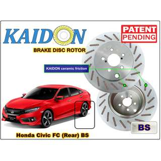 "Honda Civic FC brake disc rotor KAIDON (REAR) type ""RS"" / ""BS"" spec"
