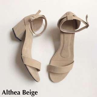 SALE Beige Block Heels