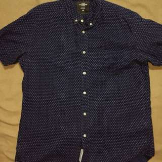 H&M Polka Dotted Short Sleeved Button Down