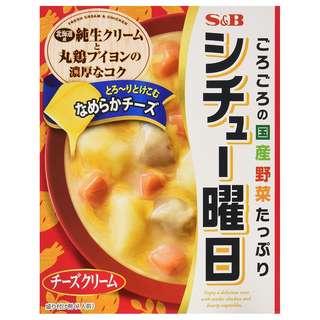 (全新訂購) 日本製造 S&B Stew Days 芝士忌廉湯 220g (5 盒裝)