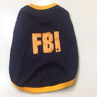 Dog tee FBI size S-XXXL