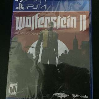PS4 Wolfenstein ll The New Colossus (Brand New)