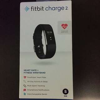 Fitbit Charge 2 Size S Black (Brand New Sealed)
