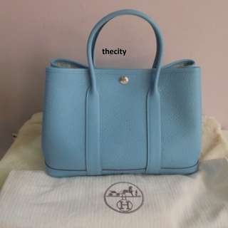 AUTHENTIC HERMES GARDEN PARTY 30 IN LEATHER