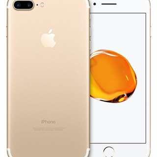 iPhone 7 Plus Gold 128GB (齊全套包裝及所有配件) (送Air Jacket)