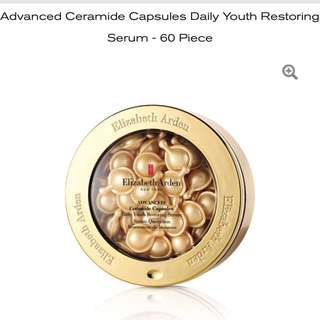 Elizabeth Arden BNIB Ceramide Advanced Ceramide Capsules Daily Youth Restoring Serum - 60 Piece