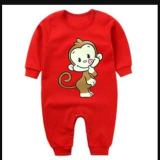 98173A Monkey Long Sleeve Jumpsuit