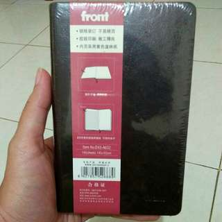 NEW Front Notebook buku tulis kecil hitam