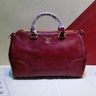 Prada red bag replica