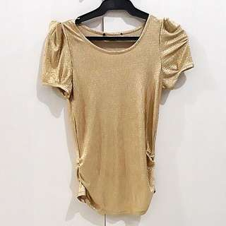 Gold sparkly shirt