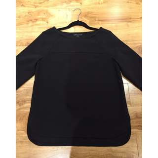 Banana Republic Black Long-Sleeved Sweater - Size S