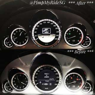 """""""LCD"""" COLOUR Instrumental Cluster With AMG Logo For Mercedes Benz W207 & W212 Year 2009 to 2015 Model! (PM For Price!)"""