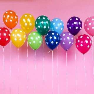 """Polka Dots Balloons 12"""""""