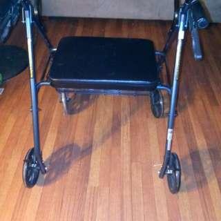 Walker with wheels