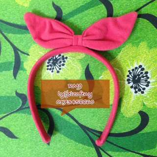 RED RIBBON HEADBAND