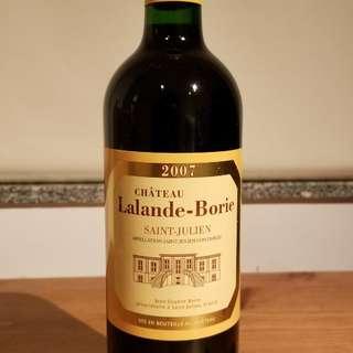 Chateau lalande borie 2007 紅酒