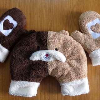 小熊仔情侶牽手手套