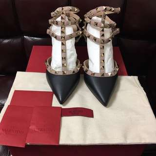 全新Valentino rock stud shoe new Sz 36.5 (原價$6900)