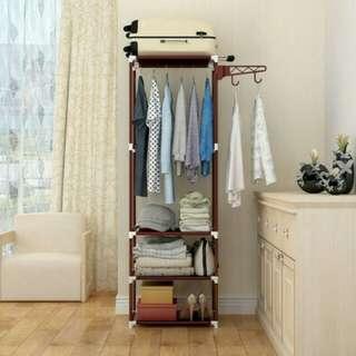 rak lemari pakaian serbaguna tanpa cover