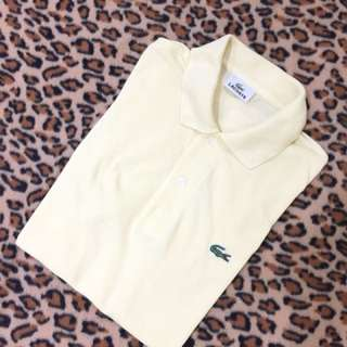 Authentic lacoste poloshirt made in japan