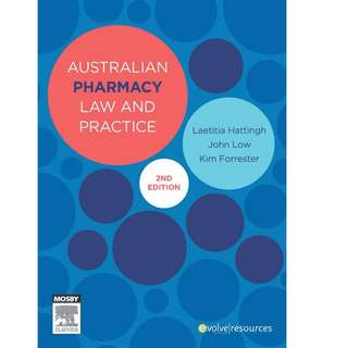 Australian Pharmacy Law and Practice, 2E 2013