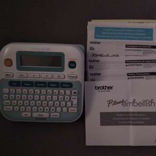Brother Ptouch embellish label maker