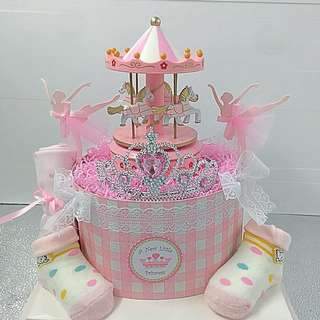 Diaper Cake - Princess theme  (Free baby Gift Card)