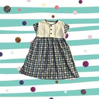 Baby's square maxi dress