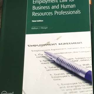 Employment Law Human Resources Textbook THIRD EDITION