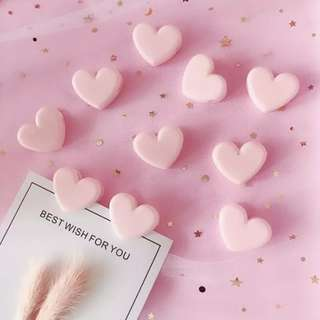 Cute Pink Heart Clips Accessories Instock Minimalist Free Postage