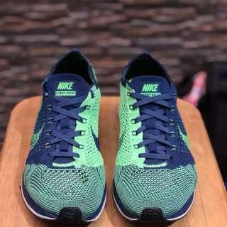 Nike Flyknit Racer 2.0 Brave Blue/Poison Green