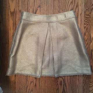 Metallic Gold Skirt from Banana Republic