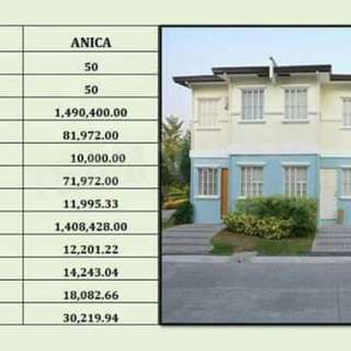 Affordable townhouse Lancaster new city Anica model