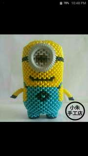 Single Eyes Minion 3D Origami