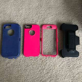 iPhone 5/5s otter box case w/ clip