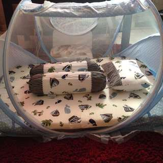 Baby Mattress & Mosquito Net