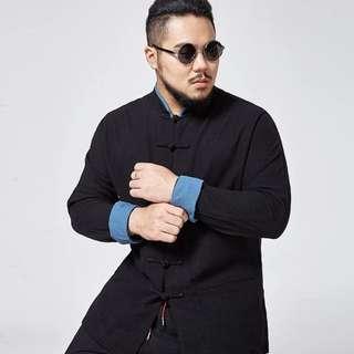 2018 men's plus size shirt (up to chest 144cm)