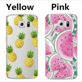 Watermelon & Pineapple iPhone cases