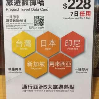 數碼通7日電話卡 Smartone SIM 7-day