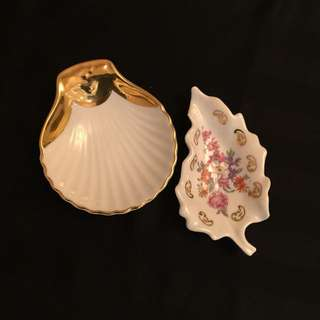 Royal Worcester and Limoges Porcelain Dishes